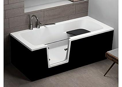 Vasca Da Bagno 170 75 : Vvo vasca da bagno per anziani nero cm cm amazon