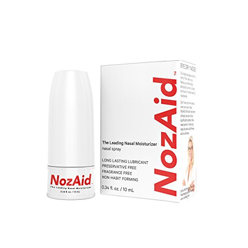 Nasal Spray Moisturizer with Sesame Oil .34 Ounce - Moisturizing Lubricant for Dry, Crusty, Cracked, Stuffy Nose Relief, Nosebleeds, Clear Breathing - Fragrance and Preservative Free by NozAid by NozAid (Image #1)