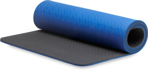 STOTT PILATES Eco-Deluxe Mat (Blue/Black) 0.4 inch / 10 mm