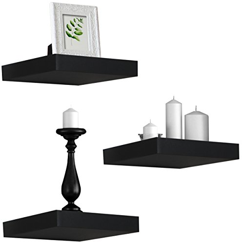 Wall Trophy - Sorbus Floating Shelves - Hanging Wall Shelves Decoration - Perfect Trophy Display, Photo Frames (Black)