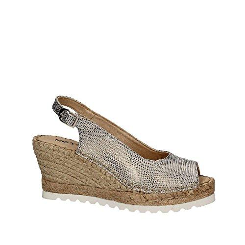 Keys 5352 Wedge Sandals Women Silver hzB3BUG0r