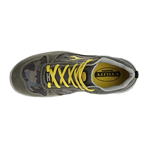 Diadora-chaussure De Sécurité Haute Flash Hi Run Gris Granit/bleu- 158593-37-37