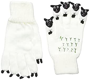 Kidorable Boys' Little Sheep Glove, White, Small (ages 3-5 years)