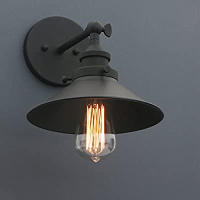 Phansthy Industrial Wall Sconce Light 7.87 Inch Vintage Style 1-light Sconce Light Shade