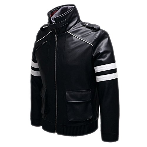 Horries Men New Alex Mercer Faux Leather Jacket by Horries Cosplay