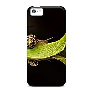 Hot Tpu Cover Case For Iphone/ 5c Case Cover Skin - Snail Journey