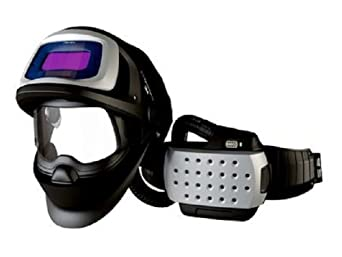 3M Adflo Powered Air Purifying Respirator Organic Vapor/Acid Gas and High Efficiency System with Speedglas Welding Helmet 9100 FX-Air, 26-3301-10SW, SideWindows and Auto-Darkening Filter 9100V, Shades 5, 8-13