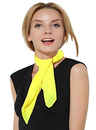 Yellow Scarf 50s Scarf for Women and Men Costumes Hair Scarf