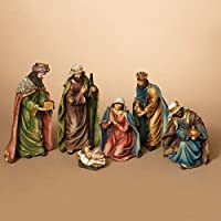 GIL 2213220 6 Pc 11.42 H Resin Nativity Se Christmas, 5.25InL x 4.2InW x 11InH, Multicolor
