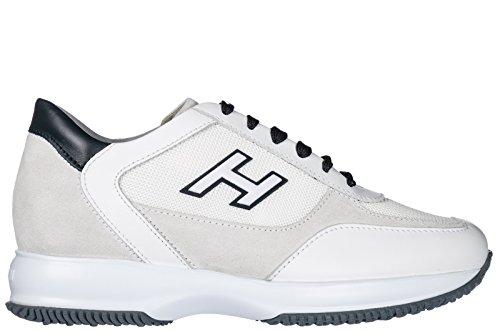 Shoes H White Sneakers Leather Flock Interactive Hogan Trainers Men's q5vxPw65CZ