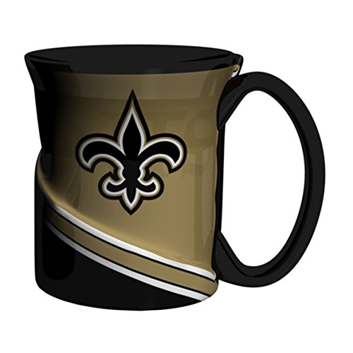 NFL New Orleans Saints Sculpted Twist Mug, 18-ounce (New Orleans Outlet)
