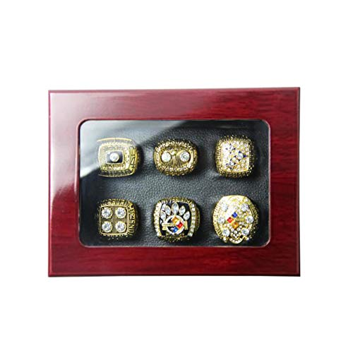 MT-Sports Store NFL Pittsburgh Steelers Gift Ring Champion Ring Set -