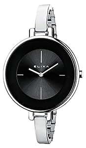 E063- L196 Elixa women watch steel bracelet case steel analogic