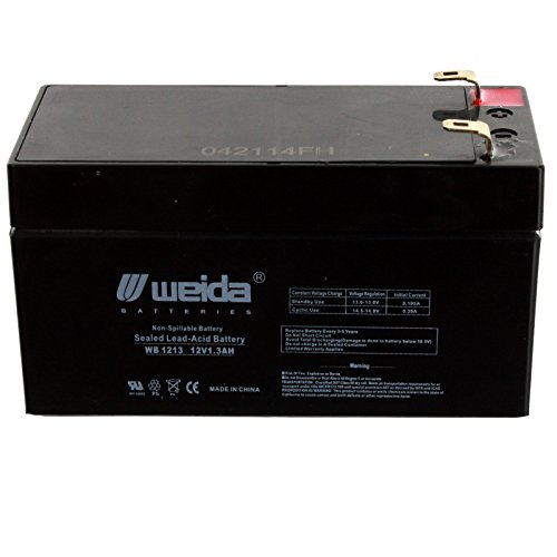 New 12V 1.3Ah SLA Battery WB1213 Replaces UB1213, PS1212, WKA12-1.3F USA Free Ship Acme Medical Bed Scales