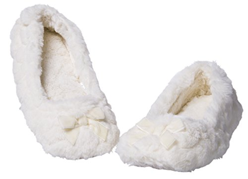 Festooning Donna Ballerina Carino Morbido Peluche Memory Foam Suola Interna Calda Hourse Cartoon Pantofole Antiscivolo Scarpe Bowknot Bianco