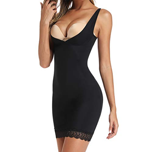 Full Slips Shapewear for Under Dresses Women Slimming Body Shaper Slip Seamless Slip Shapers