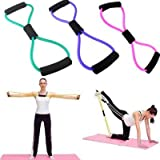 Inditradition Resistance Toning Tube/Rope Exerciser/Tube Exerciser - Latex Material with Cushion Grip