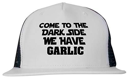 - 99 Volts Come to The Dark Side We Have Garlic Unisex Trucker Hat Cap Adjustable Black/White