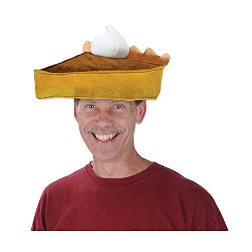 Bargain World Plush Pumpkin Pie Hat (with Sticky Notes)]()