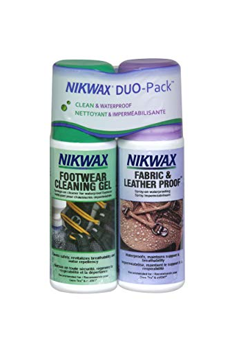 Nikwax Fabric and Leather Footwear Clean/Waterproof DUO-Pack, Spray-On