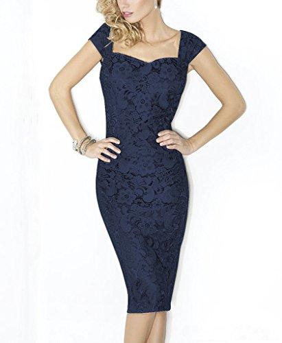 Mujer Dunkle Blau Para Vestido Rachel Trapecio Weisz YXqnBYxS