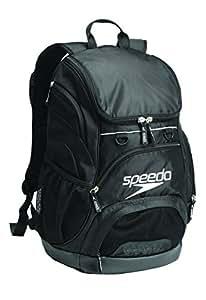 Speedo Medium Teamster Backpack, Black/Black, 25-Liter