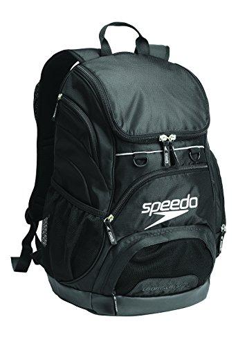 Speedo Medium Teamster Backpack, Black/Black, 25-Liter by Speedo