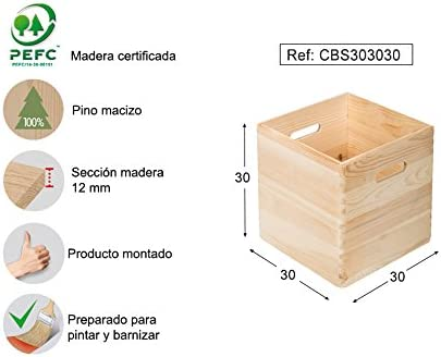 ASTIGARRAGA KIT LINE Caja de Madera apilable 30X30X30: Amazon.es ...