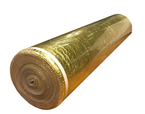 400SQFT AMERIQUE 4TH Generation Luxury Gold 3MM Thick Flooring Underlayment Padding 3-in-1 Heavy Duty Foam with Tape & Vapor Barrier, Extreme Sound Reduction & Moisture Protection by AMERIQUE (Image #1)