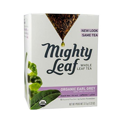 Mighty Leaf Organic Earl Grey Tea -- 15 Tea Bags, 1.32oz (37.5g) Mightly Leaf Tea