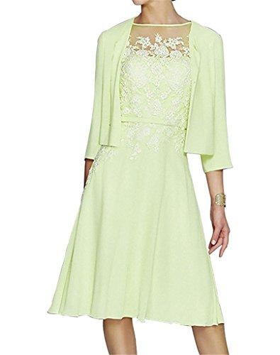 H.S.D Womens A Line Appliques Mother Of The Bride Dress With Bolero Sage Bolero Sage