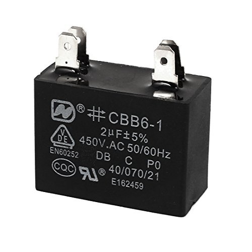 Deal Mux AC 450/V 2uF 4/broches Ventilateur Moteur Run condensateur Noir CBB6 1