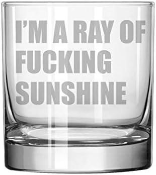 11 oz Rocks Whiskey Highball Glass Funny Im A Ray of Fcking Sunshine