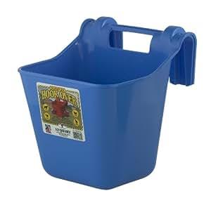 Little Giant Dura-Flex Hook Over Portable Feeder, 12-Quart, Berry Blue