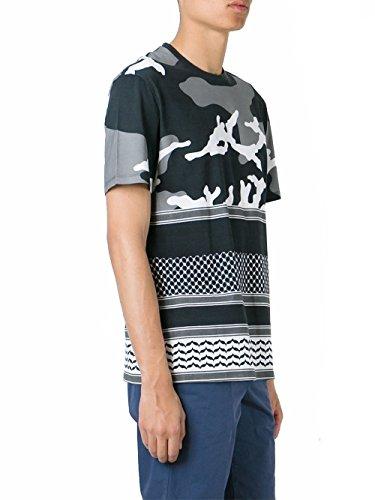 Neil Barrett T-Shirt Uomo BJT72MA536S524 Cotone Grigio/Nero