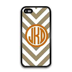 WMSHOPE? iPhone 4 4s Case Cover TAN AND BROWNS PREPPY CHEVRON MONOGRAM CELL