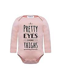 Parya Cute Baby Infant Bodysuit Onesie - Pretty Eyes Chubby Thighs