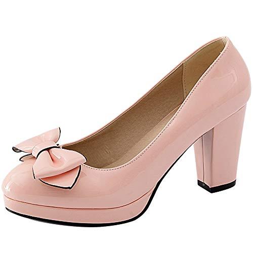 Pink Donna Scarpe Tacco JOJONUNU Chunky wqX7TfSH