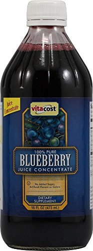 Vitacost 100% Pure Blueberry Juice Concentrate -- 16 fl oz (Juice Concentrate Blueberry)