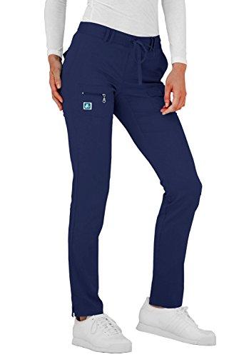 Adar Indulgence Womens Low Rise Tapered Leg 6 Pocket Drawstring Scrub Pants - 4100 - NVY - 3X