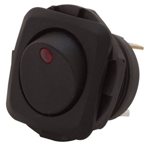 (Gardner Bender GSW-50  Electrical Square Rocker Switch,  SPST, ON-OFF, 16 A/125V AC,  Spade Terminal, Red Illumination)