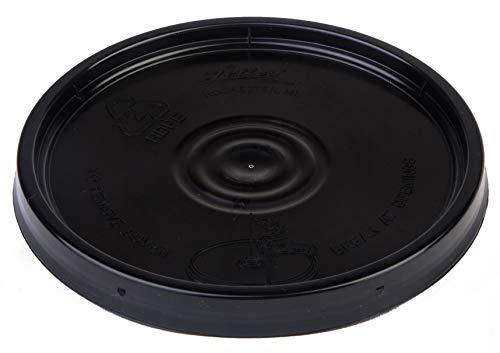 Hudson Exchange Premium Lid with Gasket for 1 Gallon Bucket, HDPE, Black, 6 Pack