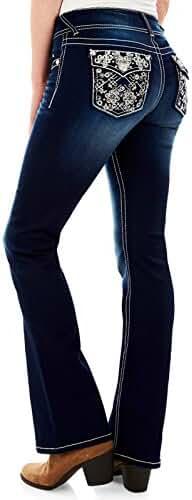 WallFlower Jeans Women's Luscious Curvy Bling Bootcut Jean