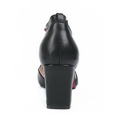 Sandales 5 36 Femme SLC04281 Noir AdeeSu Compensées Noir ZcAwSqHc45