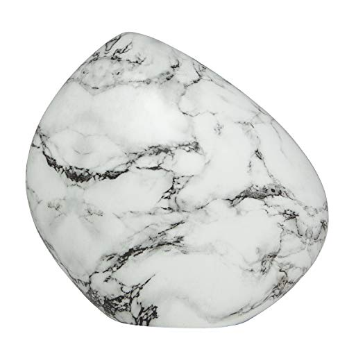 Ansons Urns White Marble Cremation Urn - Mountain/Rock Funeral Urn - Aluminum Memorial Garden Burial Urn for Human Ashes Adult Size - Aluminum with Marbled ()
