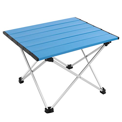 MSSOHKAN Ultralight Camping Portable Aluminum Folding Table,Mini Car Table with Collapsible Table...