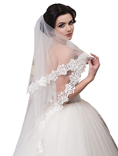 Bridal Veil Anna from NYC Bride collection (mid-length 45'', white) by NYC Bride