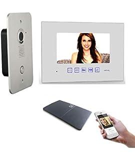 2 Draht Video Tursprechanlage Gegensprechanlage 2x7 Monitor Mit