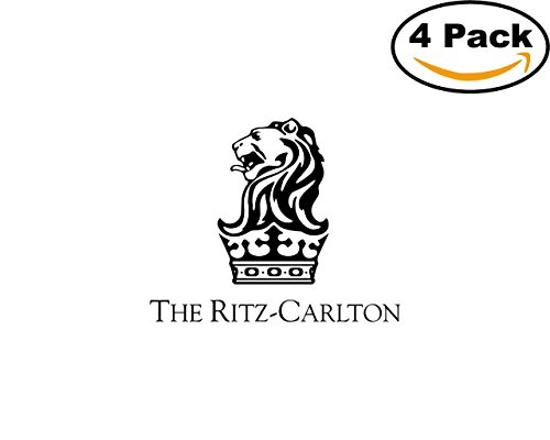 The Ritz Carlton 4 Stickers 4X4 inches Car Bumper Window Sticker Decal