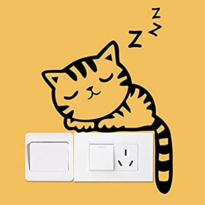 Iuhan® Fashion Cat Wall Stickers Light Switch Decor Decals Art Mural Baby Nursery Room